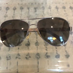 Tory Burch Aviators with case